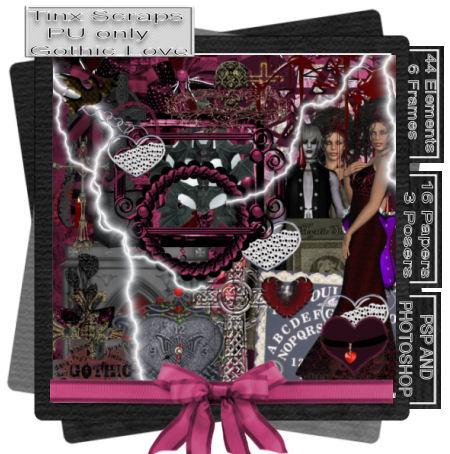 Gothic Love PU scrap kit