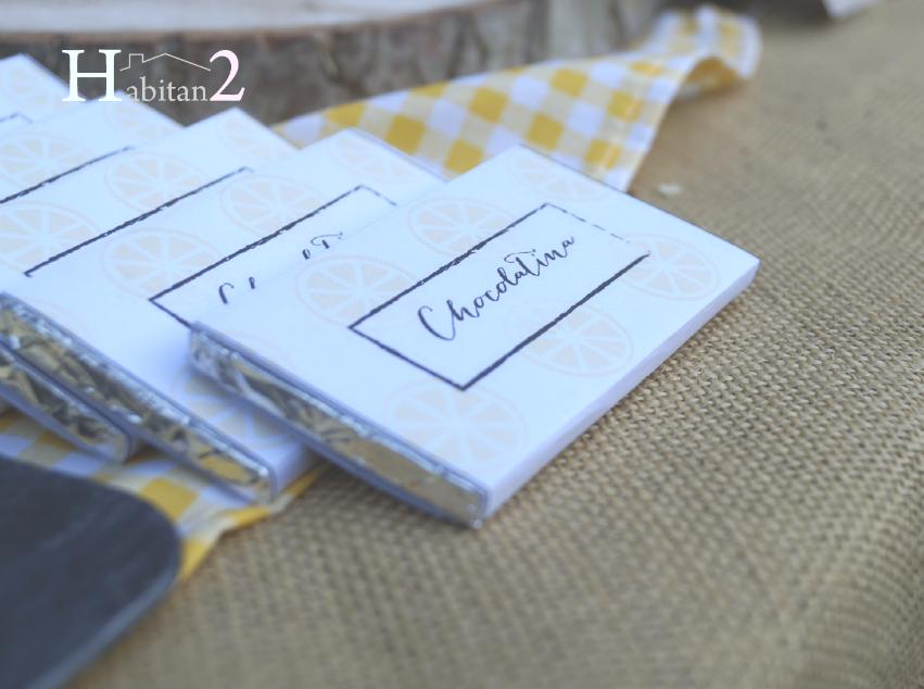 Chocolatinas personalizadas diseño de Habitan2