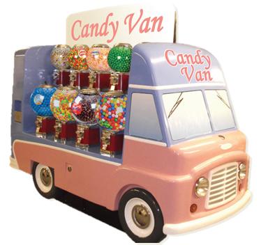nouveau concept de distributeurs de bonbons le candy van. Black Bedroom Furniture Sets. Home Design Ideas