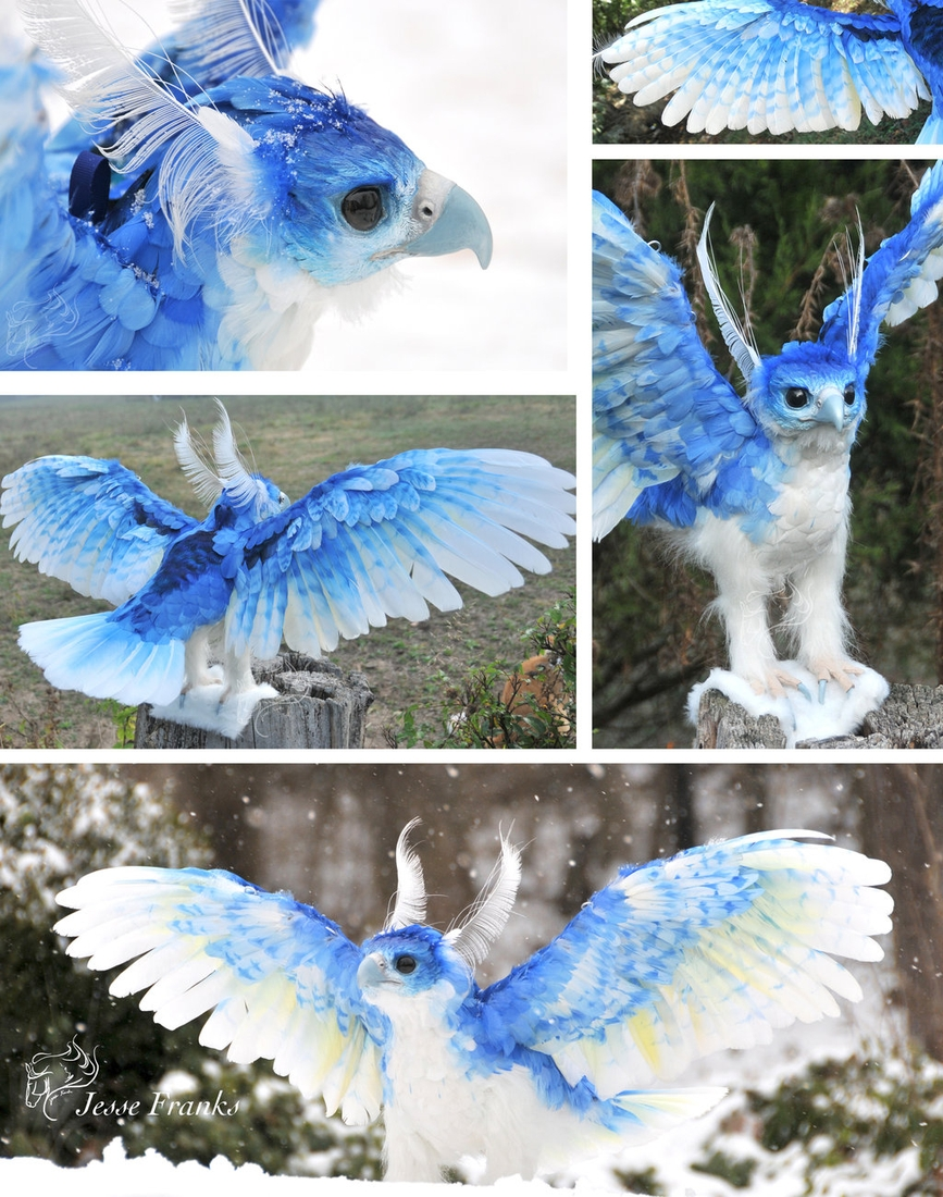 04-Ice-Phoenix-Jesse-Franks-Realistic-Faux-Animal-Sculptures-www-designstack-co