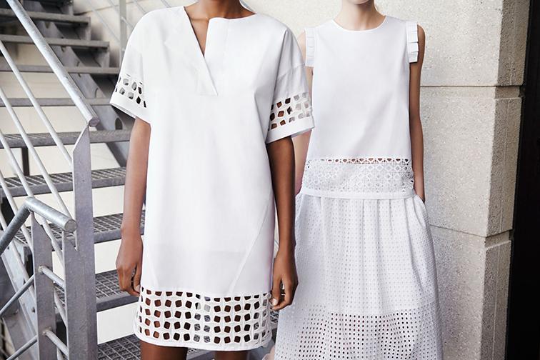 Zara white eyelet dresses, spring look book