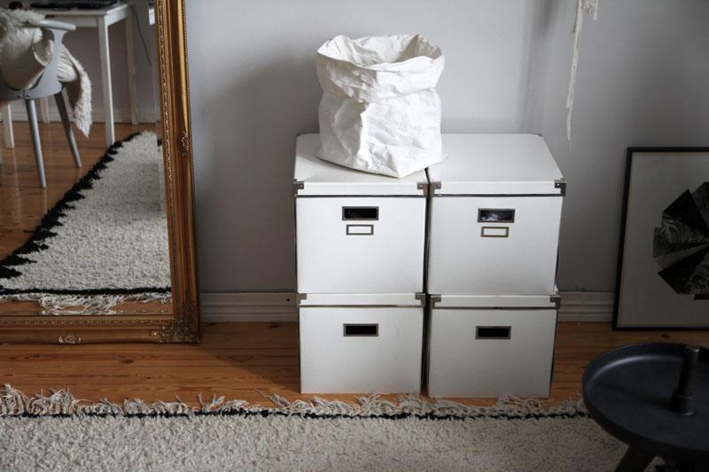 Cajas de Ikea para almacenaje