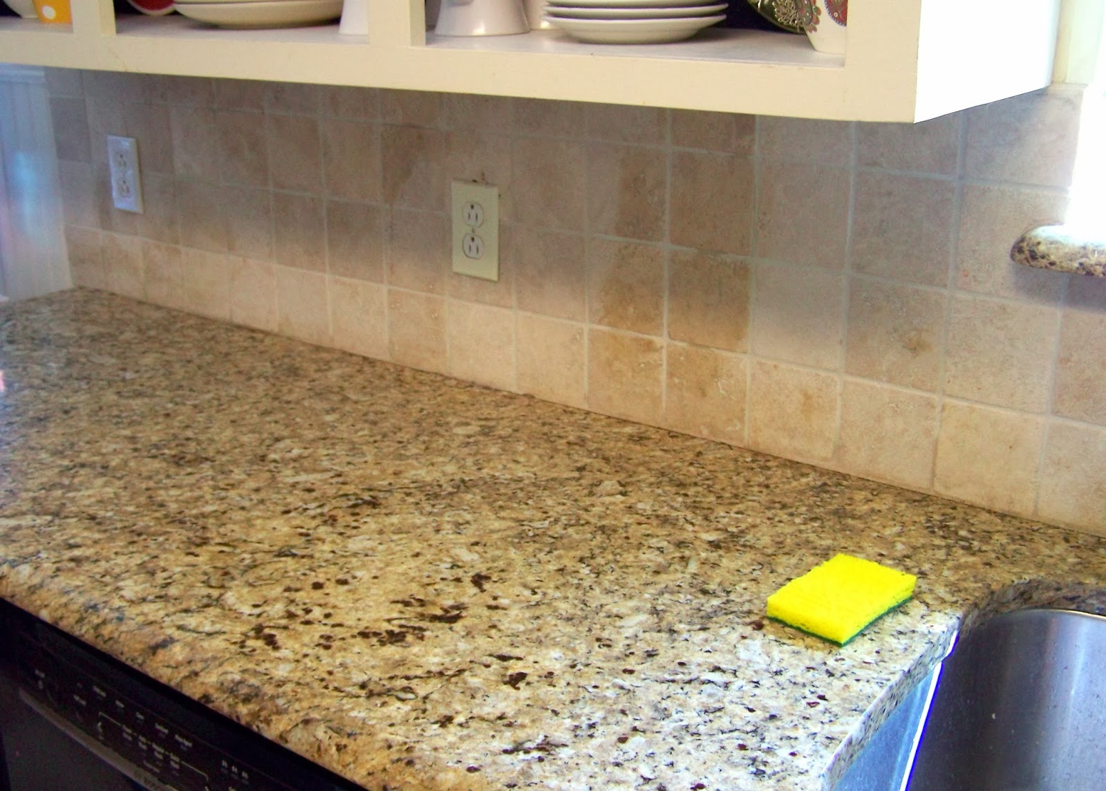 older and wisor: painting a tile backsplash {and more easy kitchen