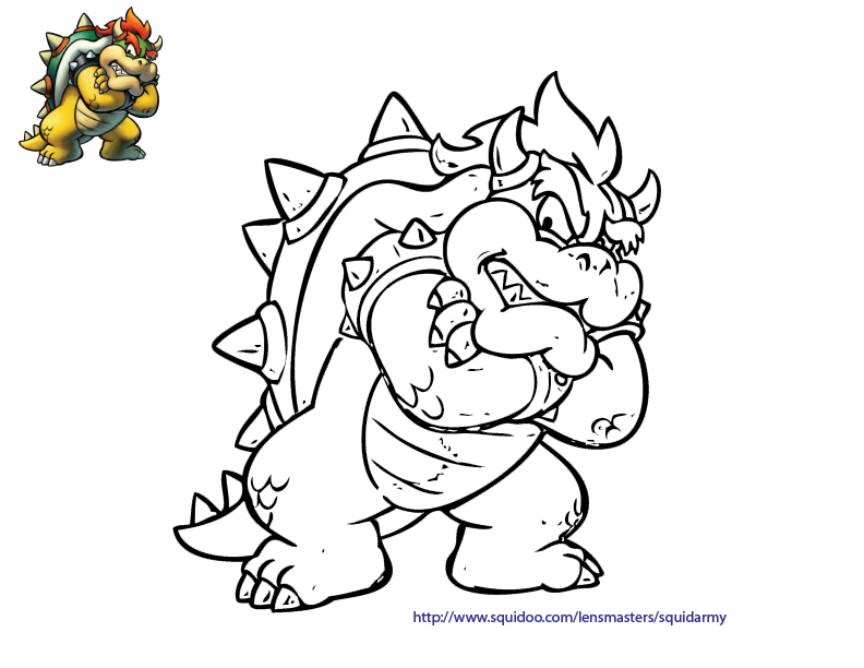 online mario coloring pages - photo#5