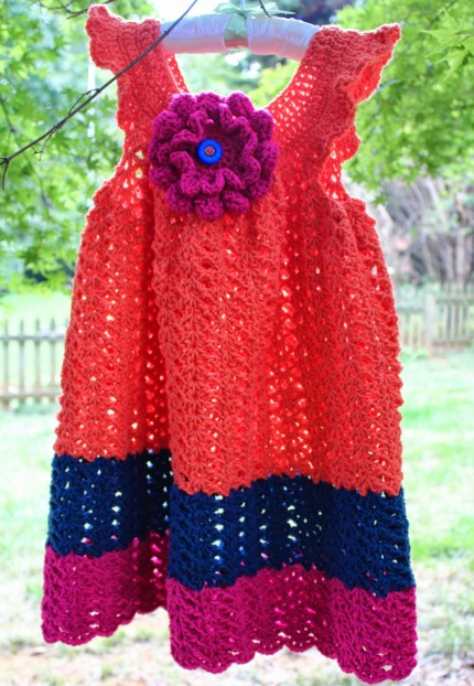 Color Block Toddler Dress - Free Pattern