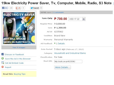 Electricity Power Saver