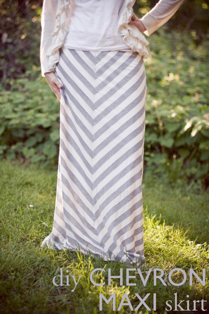 recentlyrisa diy chevron maxi skirt