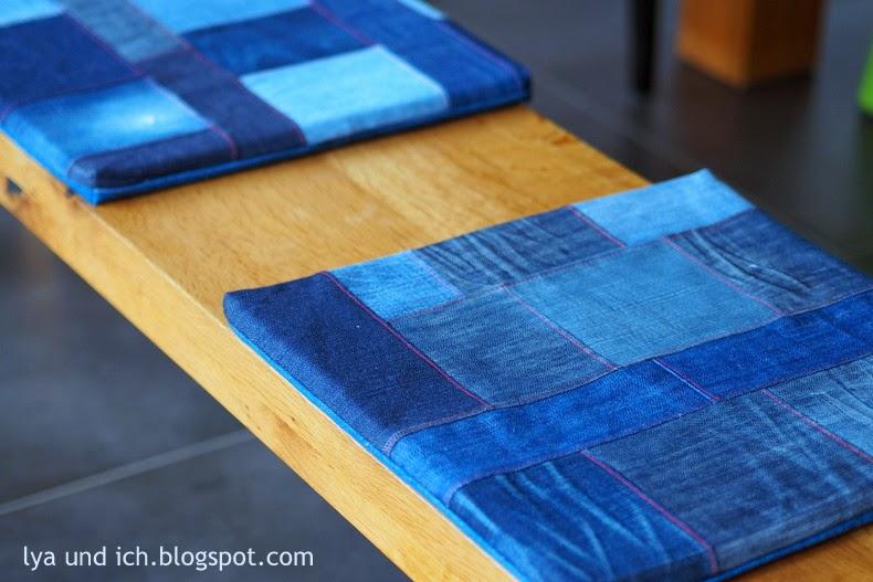 frau maerz jeansupcycling f r die k che. Black Bedroom Furniture Sets. Home Design Ideas