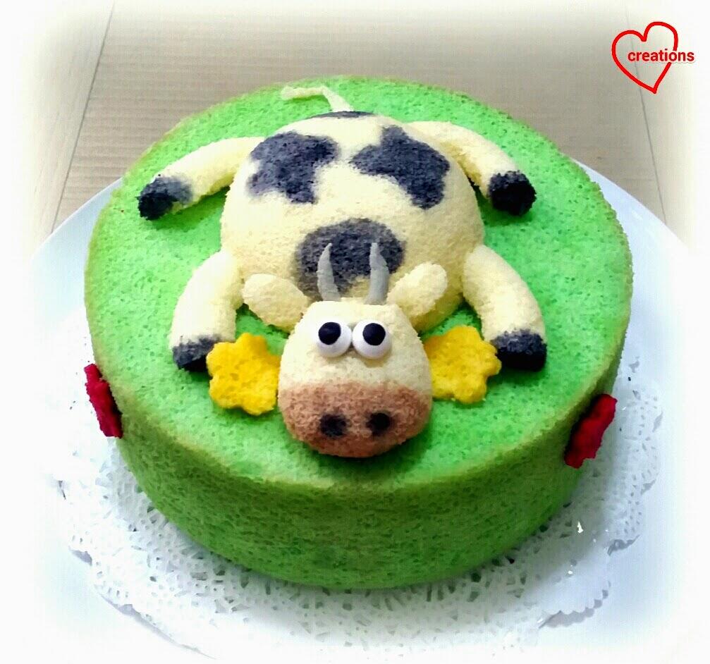 Loving Creations For You Cow Low Sugar 10 Pandan Chiffon Cake