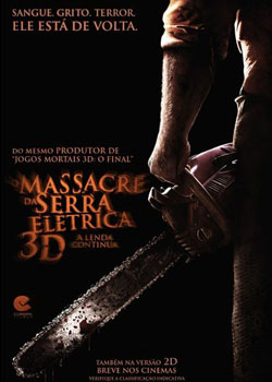 Download - O Massacre da Serra Elétrica 3D: A Lenda Continua BDRip AVI Dual Áudio + RMVB Dublado ( 2013 )