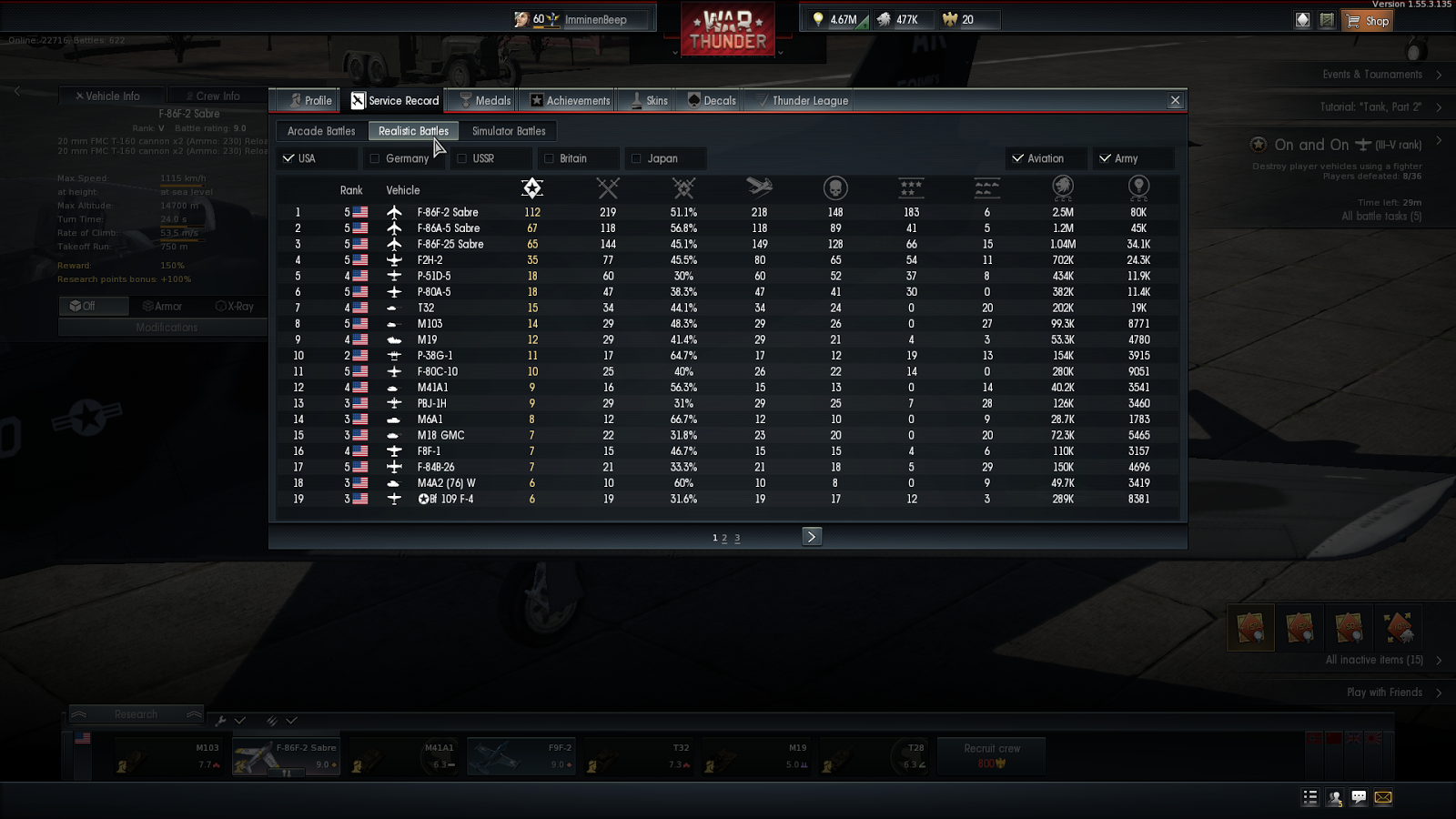 war thunder profiles