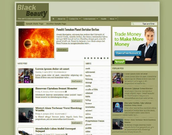 Black Beauty Blogger Template