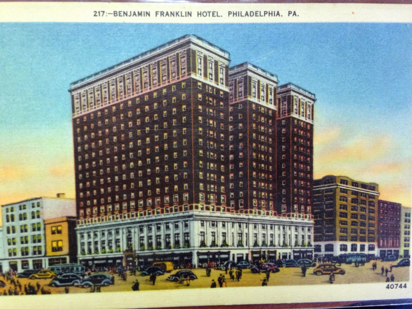 Benjamin Franklin Hotel Philadelphia Pa Postcard Interesting