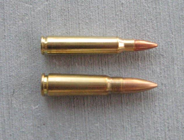 The taper of the 7.62x...