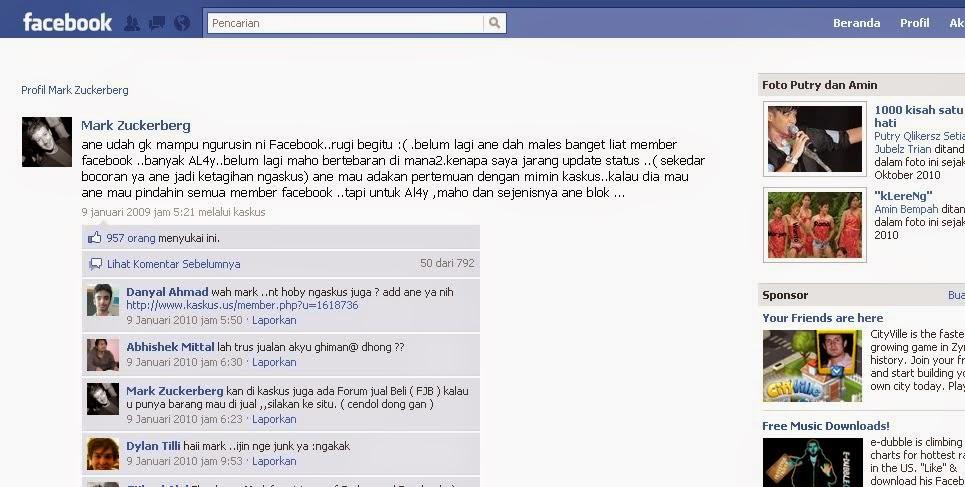 Mark Zuckerberg Menyebut KASKUS di Page Facebook