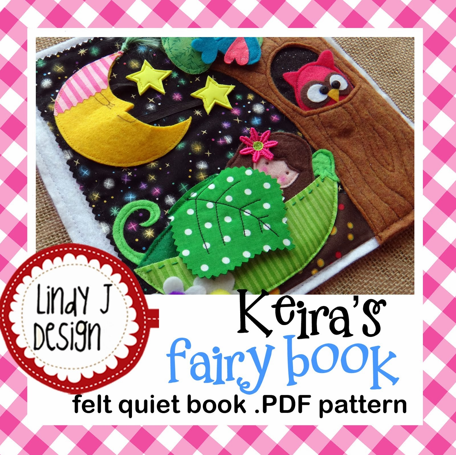 Keira's Fairy Book .PDF Pattern