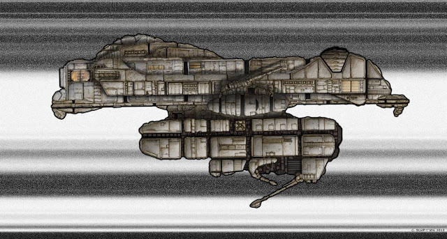FTL Pig by Chris Sumption - Digital using Painter