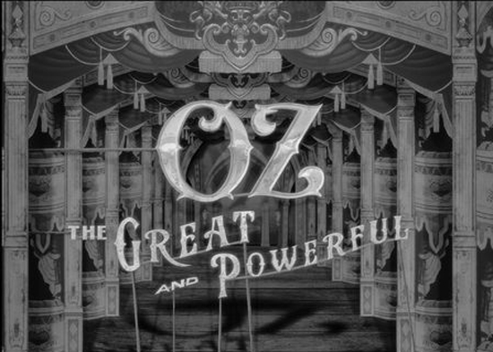 Paper theatre vintage animation style - Stunning opening titles of Oz, the Great and Powerful