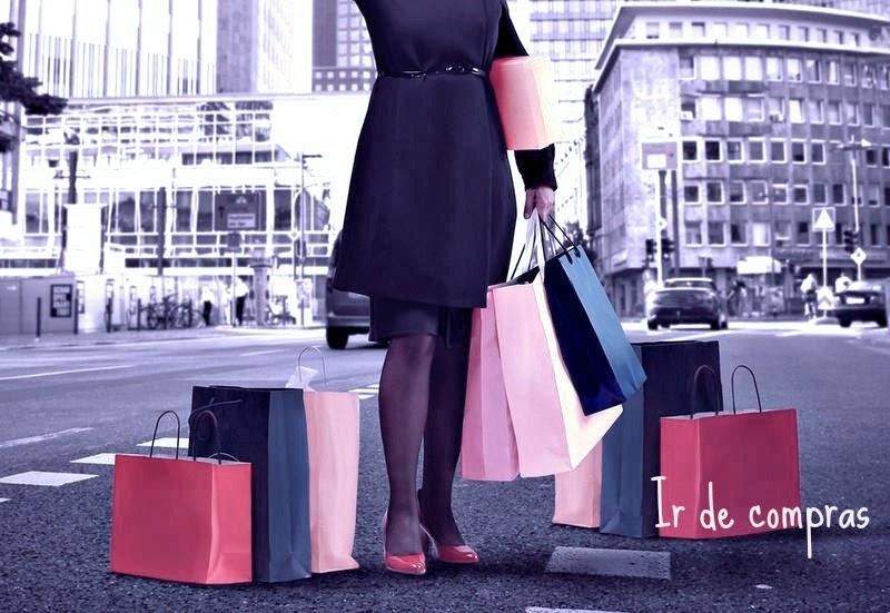 mujer florero tonta compras