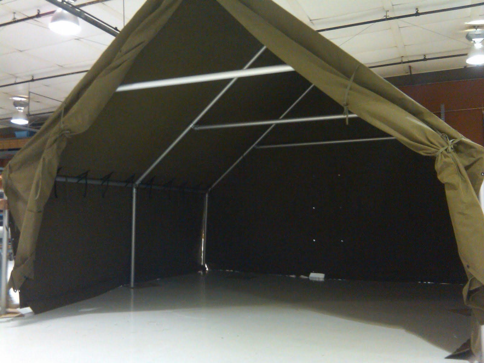 Recently Armbruster was contacted by a vendor with a special request for a WWII style tent. He wanted the look of a WWII Canvas Large Wall Tent for his ... & Custom WWII Tents for Vendors | Armbruster Tent Maker