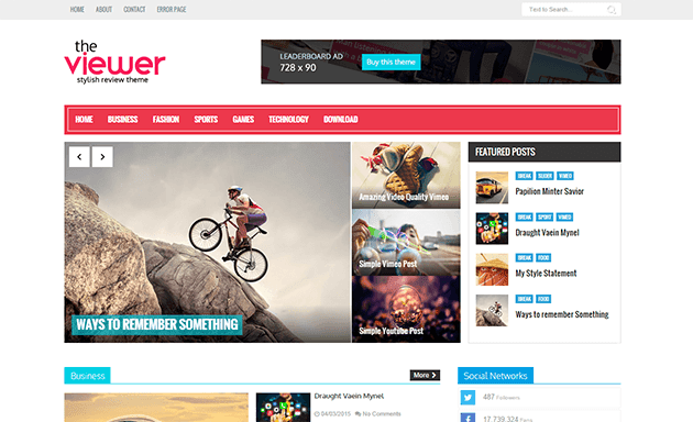 Viewer Responsive Blogger Template | ThemeXpose