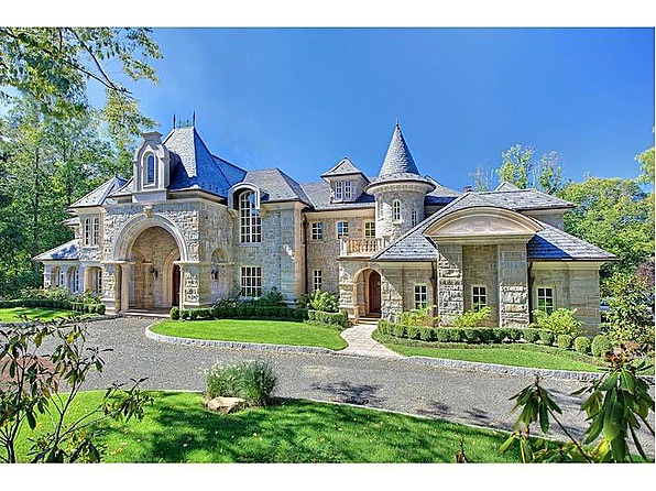 Mansions more french style new jersey estate for Castle style homes