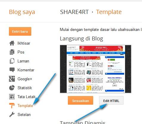 Cara Membuat Notice/Catatan di Blog