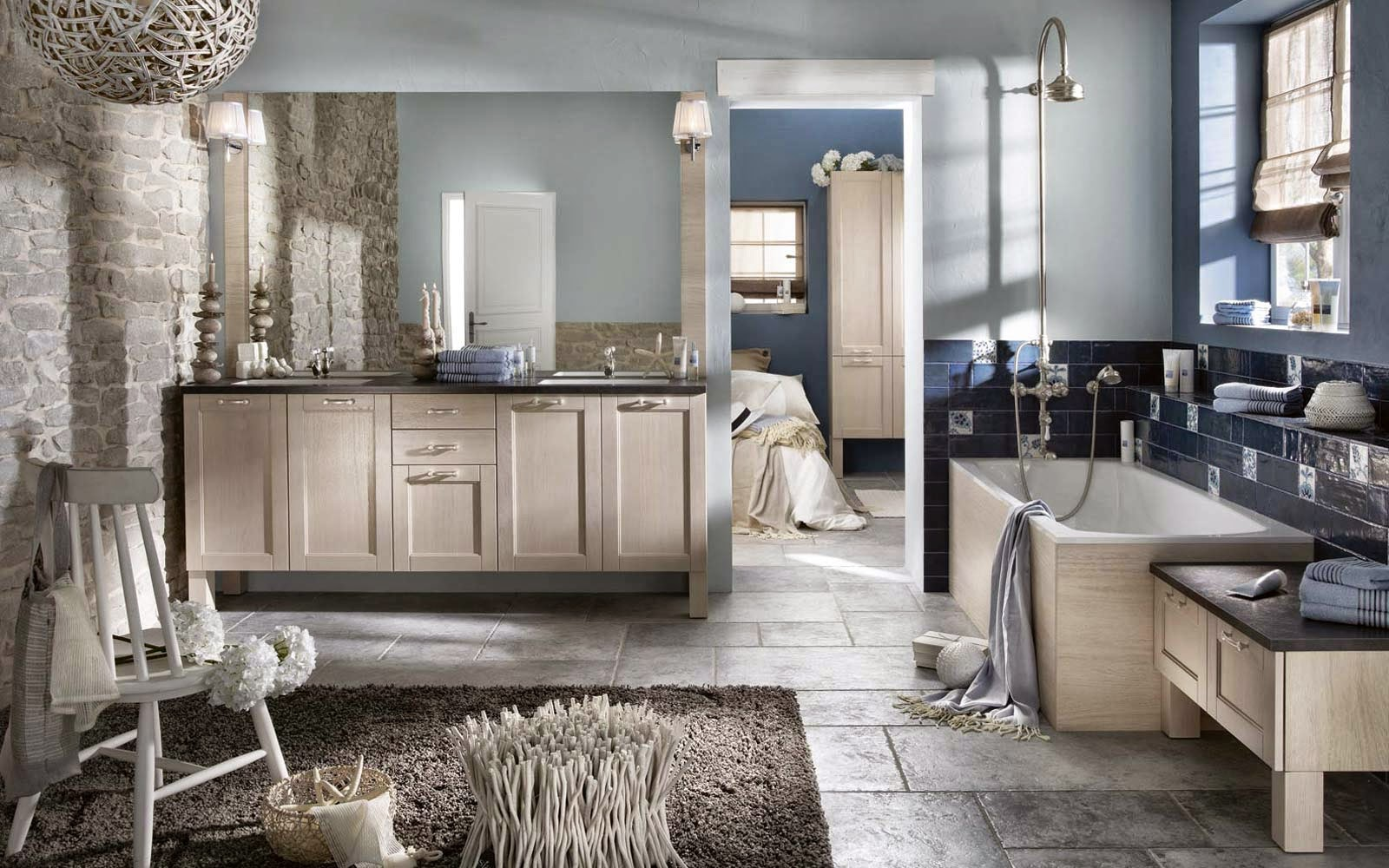 Salle de bain style cottage - Salle de bain style ...