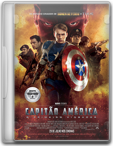 Capa Capitão América   O Primeiro Vingador   DVDRip   Dual Áudio