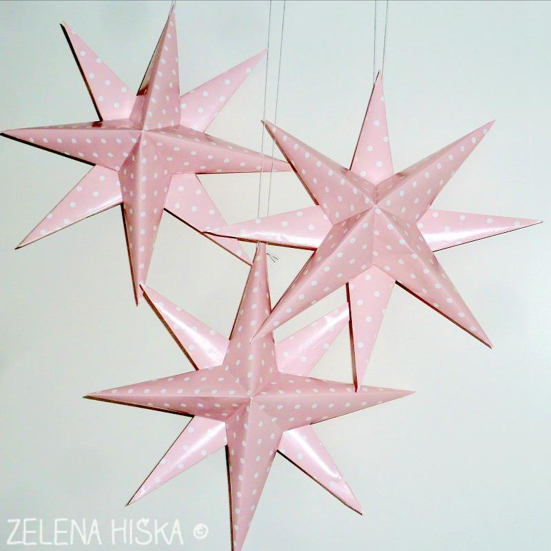 papirnate zvezde - naredi sama