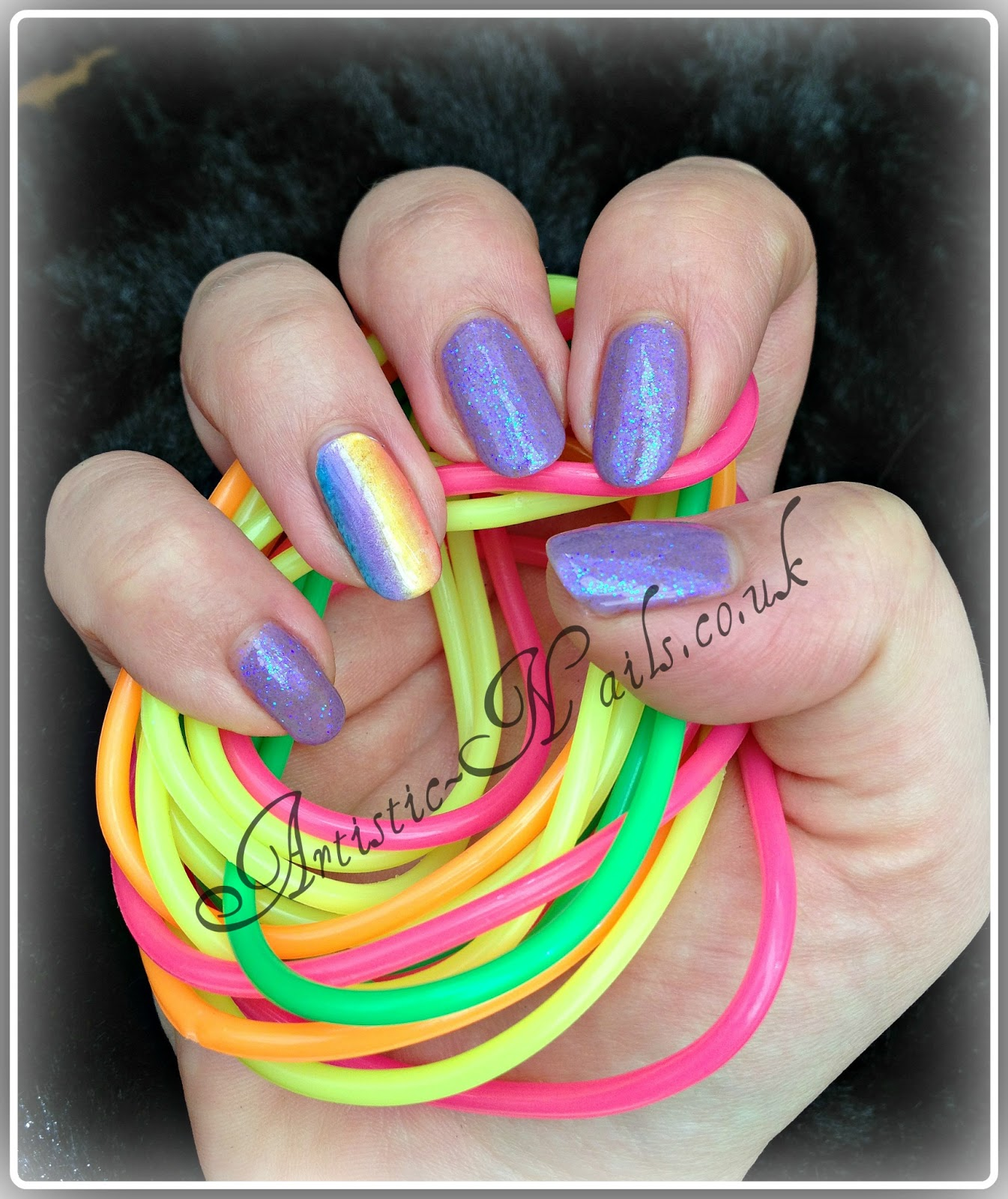 Artistic Nails Poole Uk Rainbow Nails With Shellac And Additives