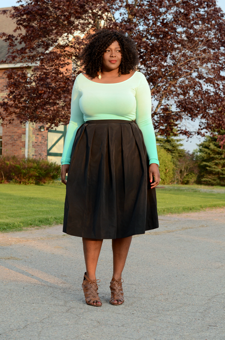 424 FIFTH midi skirt - My Curves And Curls