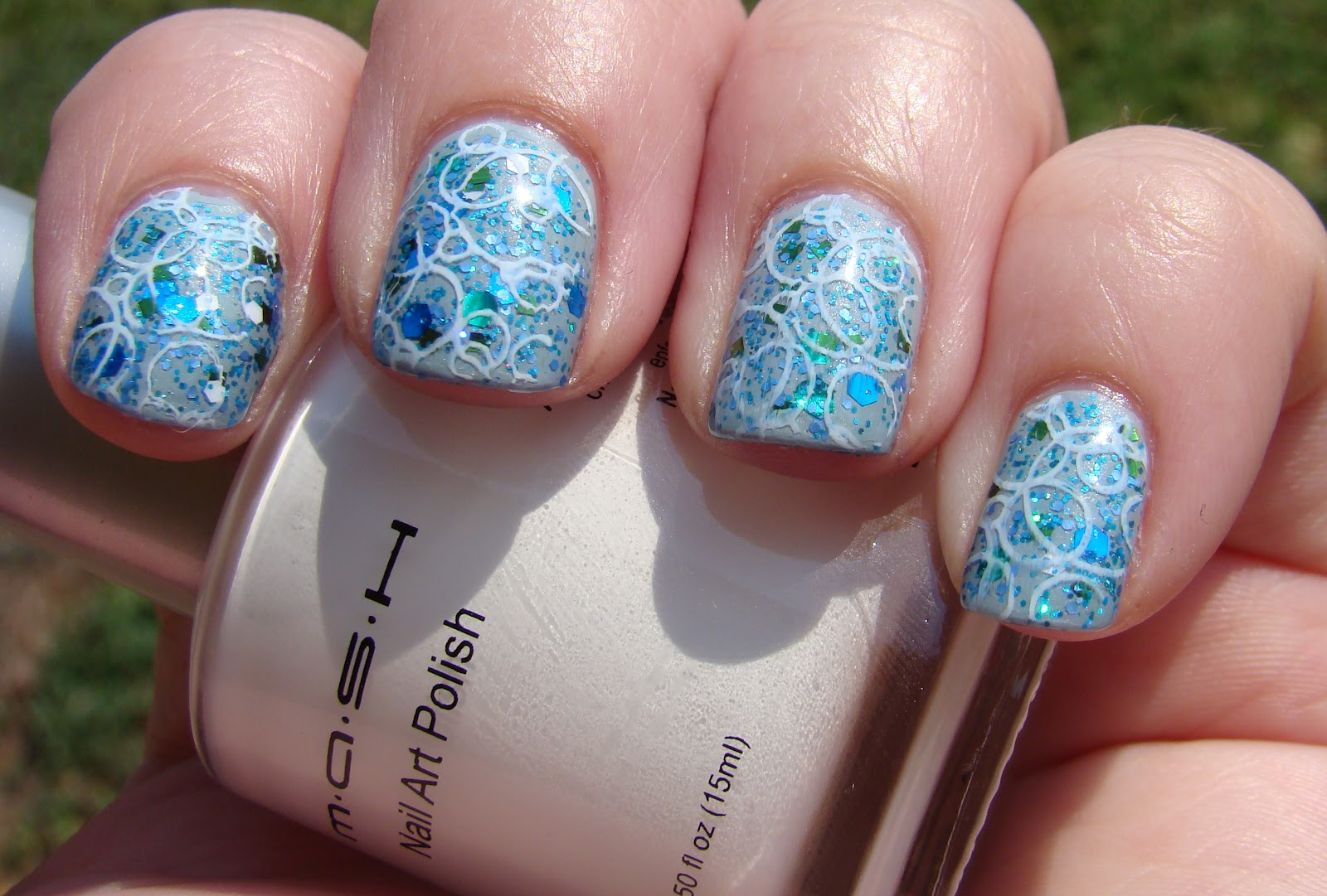 ... Nail Art 20,000 Leagues Under the Sea, MASH Nail Art Polish in White