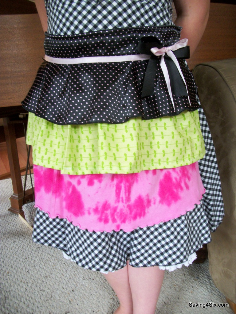 Upcycle Old Clothes Ruffled Apron Made From Old Clothes