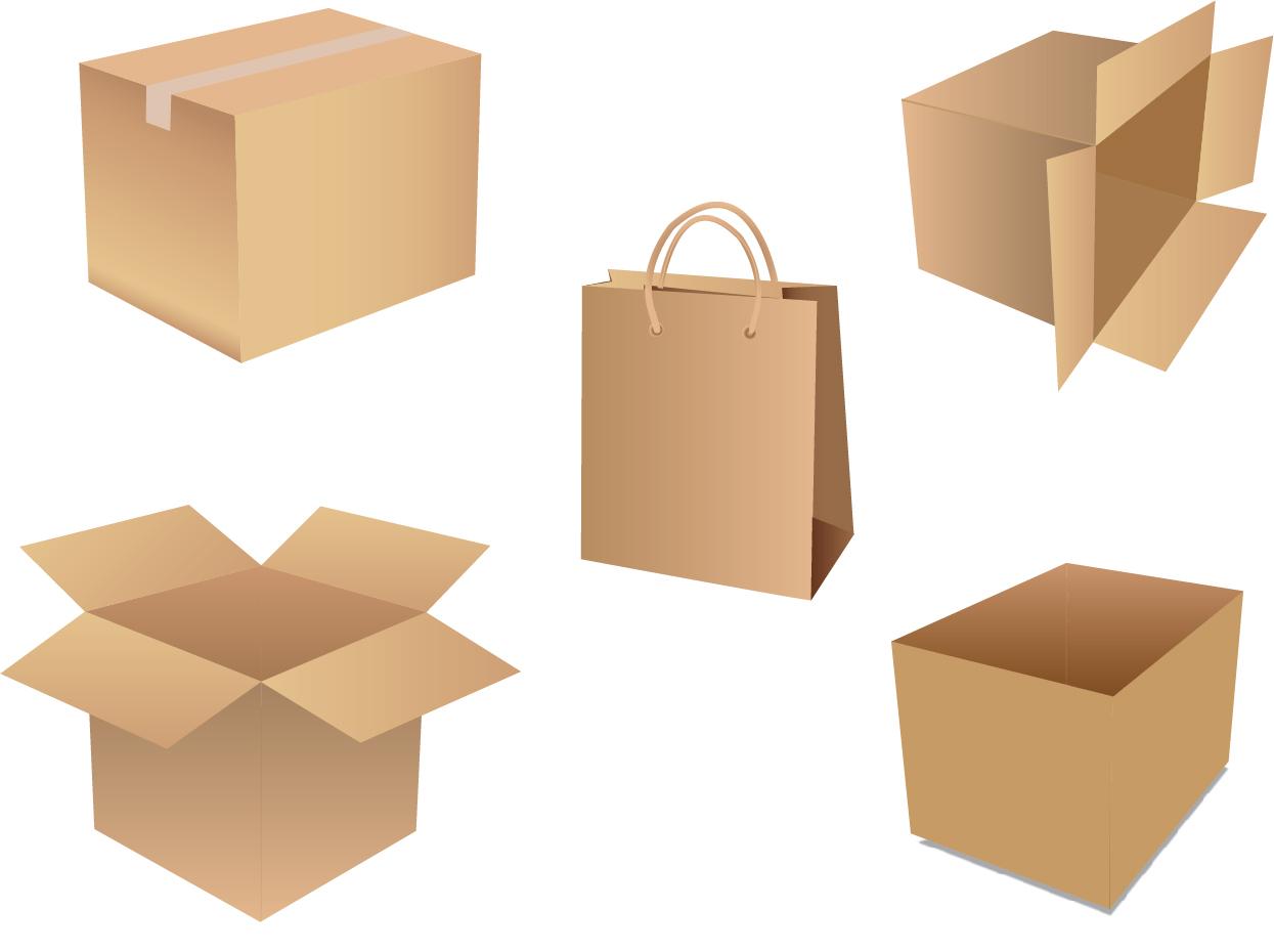 梱包用の箱 Vector Shipping Box イラスト素材