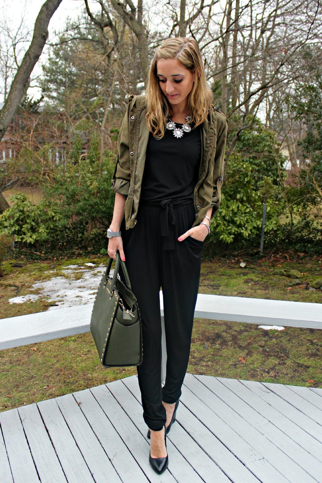 michael kors black jumpsuit