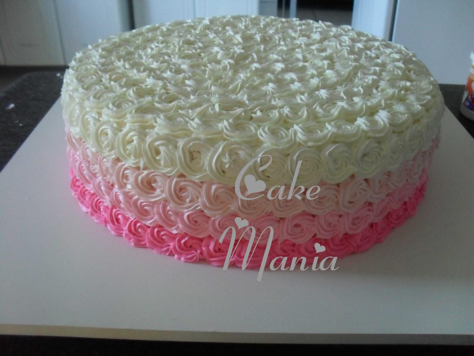 Suficiente Cake Mania: Bolo Degrade Rosa (Glacê de Leite em Pó) UB27