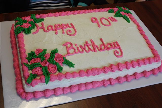 She Turned 90 Years Old Yesterday Thanks Again To Our Go Cake Creator Tammy Who Once Made A Totally Delicious Birthday
