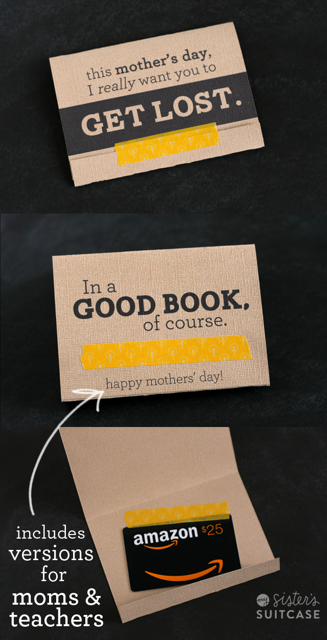 image relating to Barnes and Noble Printable Gift Card named Moms Working day Present Card Holder + Amazon GIVEAWAY! - My