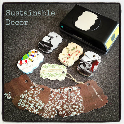 Upcycle Christmas cards into gift tags: reuse, recycle, reinvent - Sustainable Decor