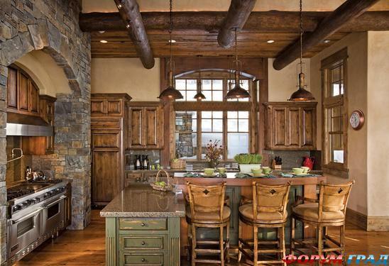 Стиль кантри в интерьере.  Дизайн в деревенском стиле (фото) .