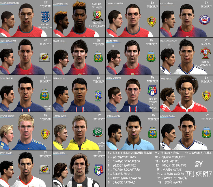 PES 2012 Facepack by Teiker