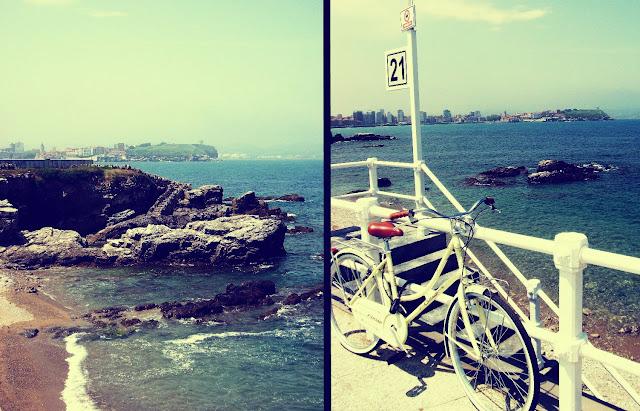 Gijón bicicleta paseo maritimo