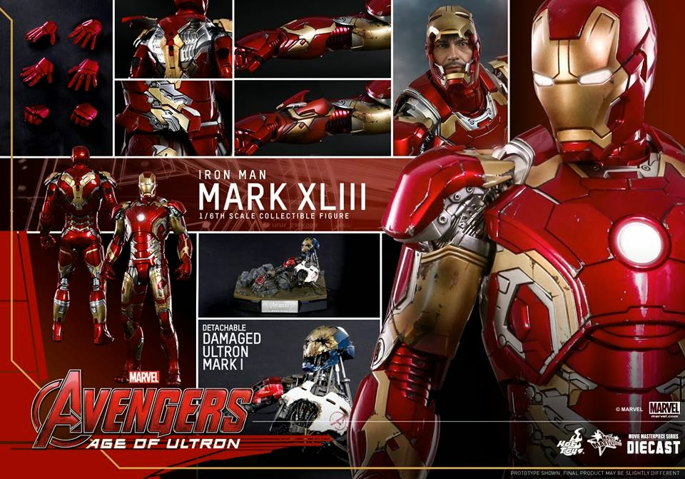 Iron Man Age of Ultron Collection Action Figure, Age of Ultron collectible series, 1/6th scale Mark XLIII Collectible Figure