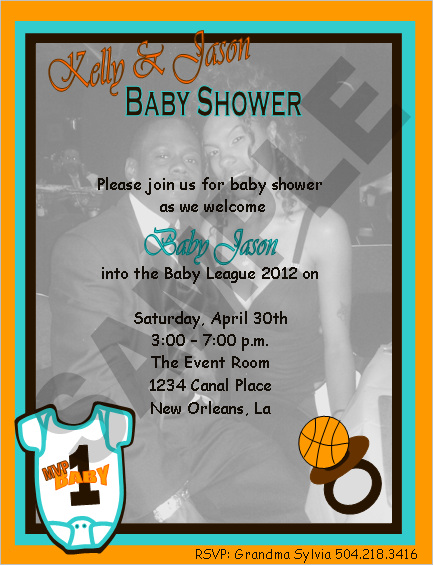 event design by kelly basketball mvp baby shower invitations