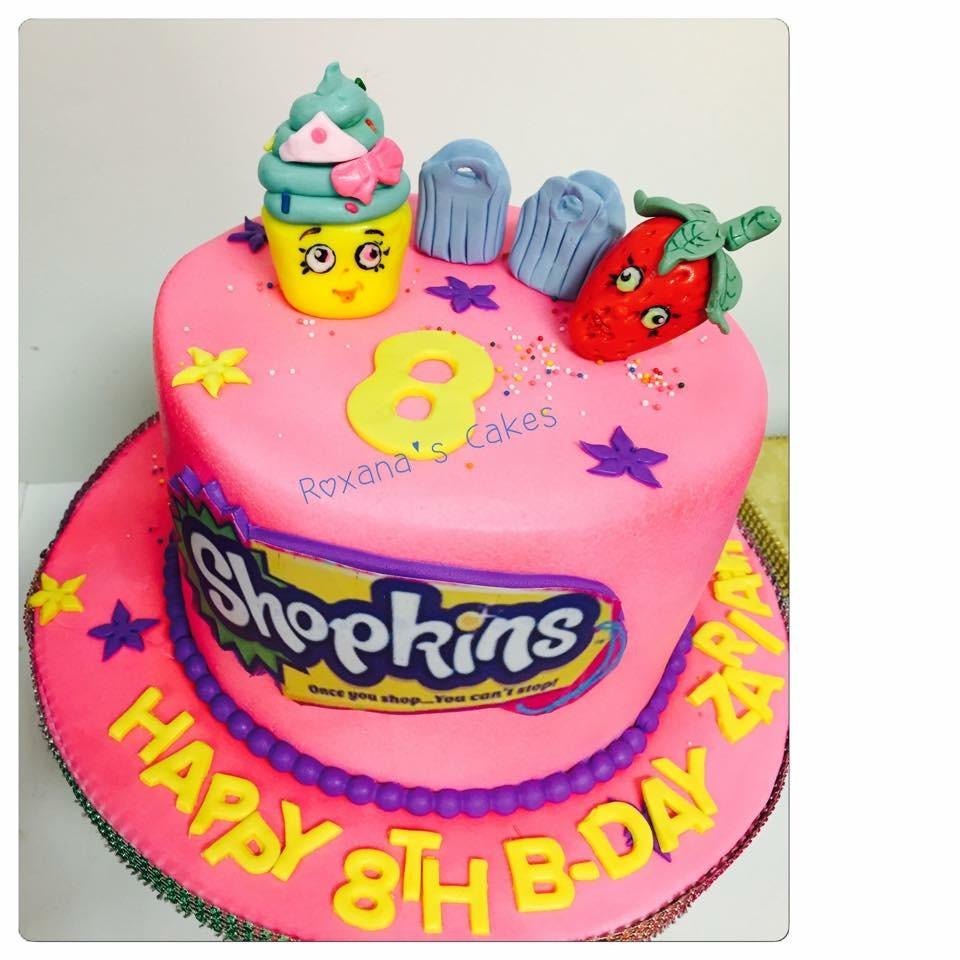 Baking With Roxanas Cakes Shopkins Themed Birthday Cake