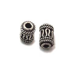 Tube sterling silver assorted bead for jewelry