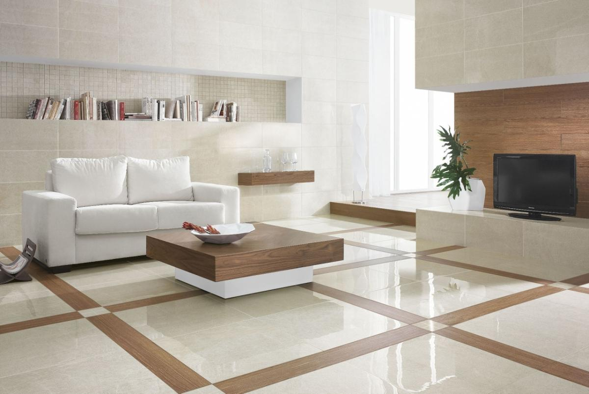 living room ceramic tiles flooring design idea. title=