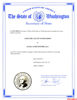 dania screwedme llc made official by washington state
