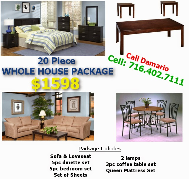 Call Me For Details On This Whole House Furniture Package In Buffalo NY!!  Damario 716.261.2121. New, Still In Packaging W/ Manufactureru0027s Warranty.